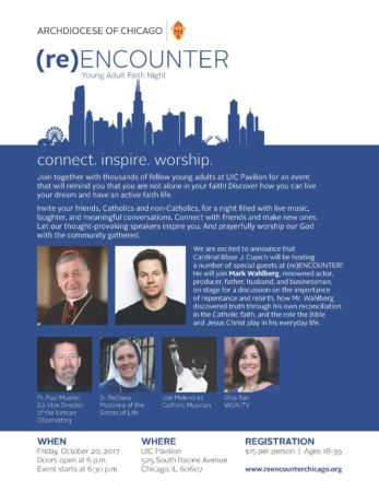 (re) Encounter Young Adult Faith Night, Sponsored by Archdiocese of Chicago @ UIC Pavillion