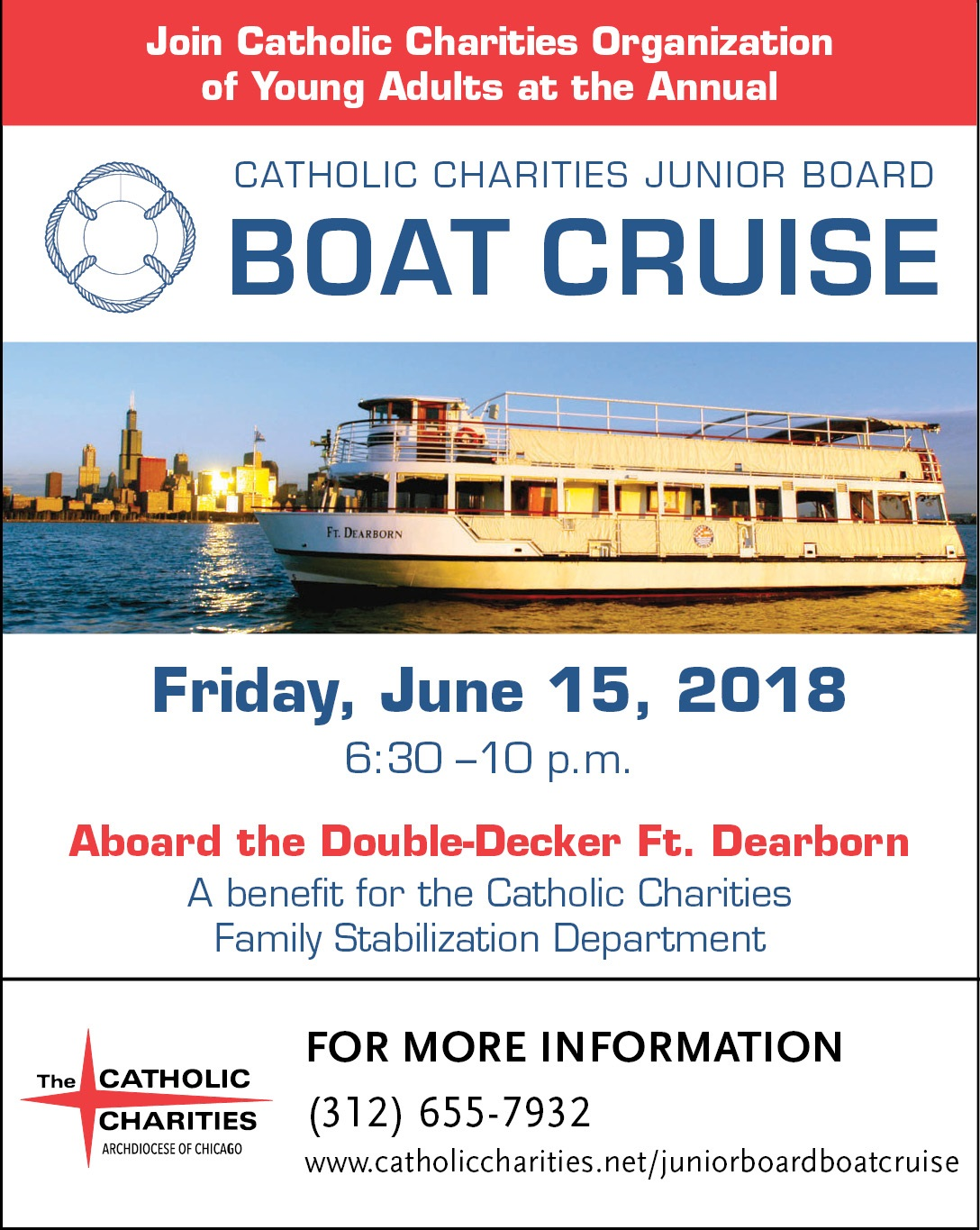 2018 Young Adults Junior Board Boat Cruise June 15 Chicago