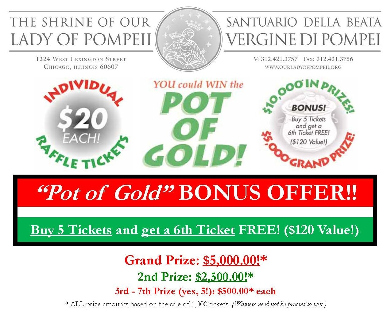 Pot Of Gold - Tickets on Sale Now!