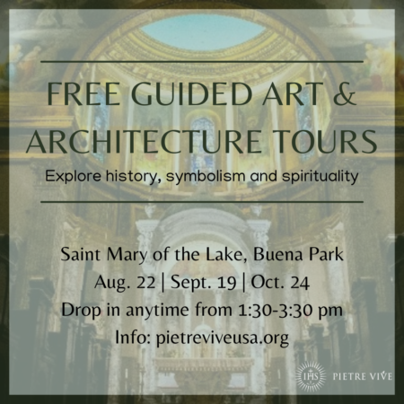 Guided tour of  at Saint Mary of the Lake, Chicago by Pietre Vive
